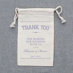 Thank You Customized Wedding Favor Bags http://shop.weddingchicks.com/custom-favor-bags/?sort=featured=2#
