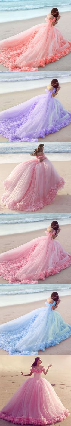 Plus Size Prom Dress, Ball Gown Off shoulder Pink Tulle Wedding Dresses,Pink Quinceanera Dresses Shop plus-sized prom dresses for curvy figures and plus-size party dresses. Ball gowns for prom in plus sizes and short plus-sized prom dresses Wedding Dresses With Flowers, Tulle Wedding, Wedding Gowns, Flower Dresses, Floral Wedding, Wedding Blue, Wedding Ceremony, Quince Dresses, Ball Dresses