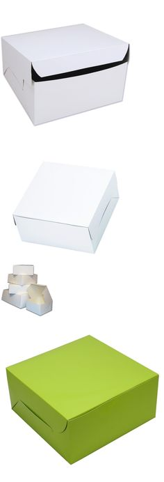 """10/"""" INCH WHITE PARTY CAKE BOX FOR WEDDINGS BIRTHDAY CHRISTENINGS"""