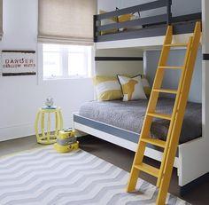 Gray and yellow kids room - valspar caramel honey