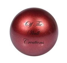 Chime Ball – Shimmer Red Different Patterns, Pendant Necklace, Red, Drop Necklace
