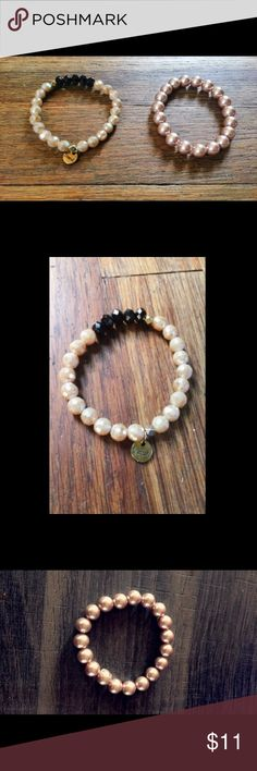 Gold Bracelet Bundle! Two rose gold colored bracelets! Both bought from different stores. Wear together or alone to make your outfit more stunning! *note: I ship same day or next day depending on when items are purchased! Tilly's Jewelry Bracelets