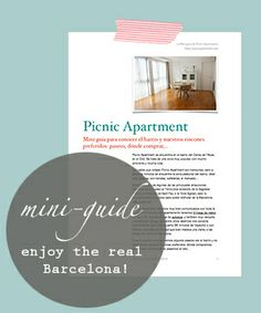Picnic Apartment's mini-guide & enjoy the real Barcelona! In this mini-guide you'll find our favourite places to have a walk, to eat, to buy, our favourite spots or simply where we like to spend time in our neighbourhood!