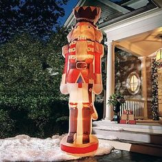 12 Ft Nutcracker Ballet Soldier Inflatable Christmas Yard Prop Music Dance Air