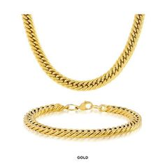 Men's Chunky Cuban Chain Necklace & Bracelet at 92% Savings off Retail!