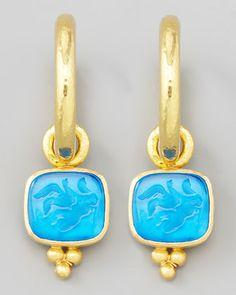 Intaglio Earrings. Elizabeth Locke.