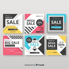 Sale web banner for social media Free Vector Web Banner Design, Web Banners, Price Tag Design, Retro Logos, Vintage Logos, Online Web Design, Creative Poster Design, Page Design, Design Design