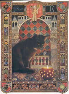 indigodreams:  Halloween Cat ~ Lesley Anne Ivory