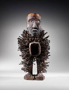 Congo, Art Africain, Lion Sculpture, Mercy Seat