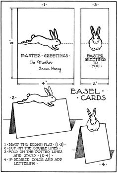 Pop Up Rabbit  Rabbit Easter And Template