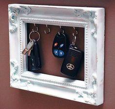Věšák na klíče - RECY věci, organizer, věšáček na klíčky, jak udělat věšák, recyvěci, recyklace, jak vyrobit věšák, návod na věšák,