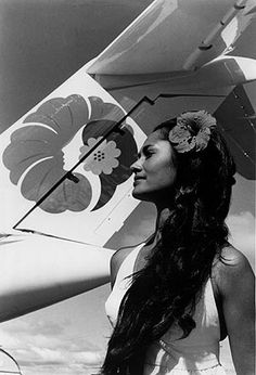 """Former Miss Hawaii Leinaala Teruya helped promote original Pualani logo in 1974"" -http://katreeder.blogspot.com"