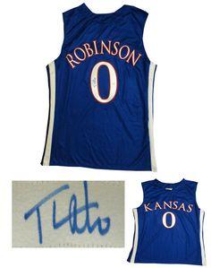 bf84e3db390 Thomas Robinson Signed Kansas Basketball Jersey JSA COA signed autographed  Basketball Signs, Kansas Basketball,