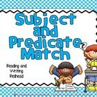Check out this free subject and predicate match. Do your students need to work on their understanding of subjects and predicates and how they work . Grammar Sentences, Grammar And Vocabulary, Word Study, Word Work, Vocabulary Journal, Subject And Predicate, Complete Sentences, Readers Workshop, Hands On Activities