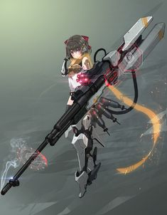 Fantasy Character Design, Character Design Inspiration, Character Concept, Character Art, Mecha Suit, Anime Military, Anime Weapons, Robot Girl, Weapon Concept Art
