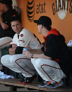 Teammates don't let teammates squat on the bench alone #sfgiants