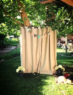 DIY photo booth using curtains!