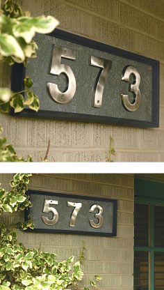 Take on this simple address plaque #project that can vary based on your taste and desired plate size.