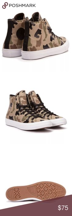 Converse Chuck Taylor II Sandy chocolate Mens 9.5 Brand new with box. Mens size 9.5 Converse Shoes Sneakers
