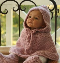 Etsy find of the day – knitted hooded poncho