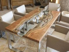 Merveilleux Wood Slab Dining Table Designs In Rustic And Modern Interiors