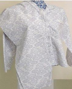 John-Lewis-Womens-Smashed-Cotton-Pjs-Pyjamas-set-Lounge-Wear-Grey-Floral-Size-10
