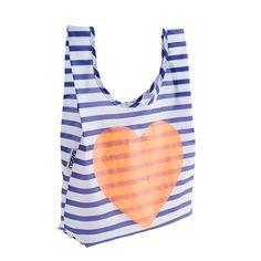BAGGU® for crewcuts heart and stripe bag - for girls