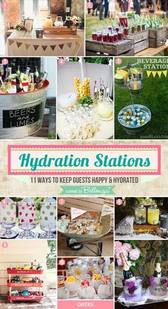 Hydration Stations: 11 Ways to Keep Guests Happy and Hydrated - Unique  Wedding Ideas from