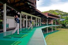 Practice won't be boring especially at a two tiered covered driving range overlooking a beautiful lake at Sutera Harbour Golf & Country Club. Casas Club, Golf With Friends, Golf Range, Famous Golf Courses, Golf Tips For Beginners, Perfect Golf, Golf Player, Golf Lessons, Golf Humor