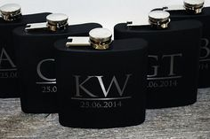 12 engraved flasks Wedding party favors, Groomsmen flask, Best man flask, Custom engraved 6oz flask., flask, personalized flask,