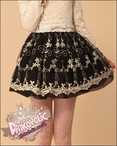 Puffy embroidered lace skirt belt included [PHC6107] - £16.00 : Pinkoholic, Asian Fashion Gateway
