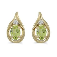 14k Yellow Gold Oval Peridot And Diamond Earrings Direct-Jewelry, http://www.amazon.com/dp/B004EYMYES/ref=cm_sw_r_pi_dp_6cnBqb0RYGF8V