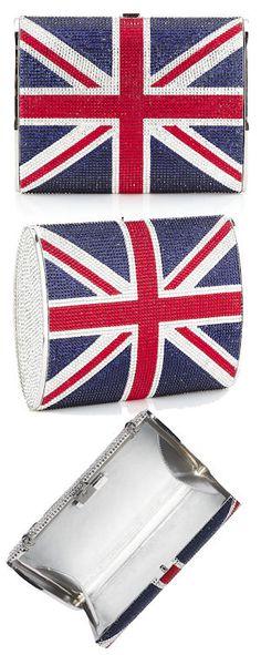 Judith Leiber Union Jack Clutch Bag