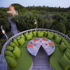 Soneva Fushi Resort & Spa Maldives - The Garden Restaurant Outdoor Dining, Outdoor Spaces, Outdoor Decor, Outdoor Seating, Outdoor Couch, Backyard Seating, Garden Seating, Outdoor Lounge, Places Around The World