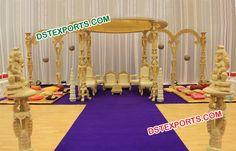 #Classical #Wedding #Wooden #Mandap #Dstexports