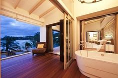 Love the openness of this bathroom