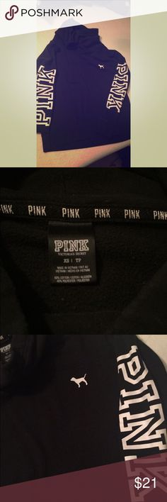 Pink by Victoria Secret cowl neck pull over hoodie XS hoodie. The drawstring is missing is why I have it listed so cheap. PINK Victoria's Secret Tops Sweatshirts & Hoodies