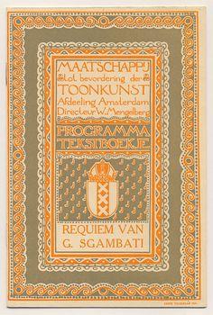 Programma tekstboekje - Maatschappij tot bevordering der Toonkunst, Annie Tollenaar 1913