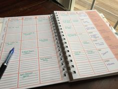 The Home Executive Day Planner 2015 weekly layout ideas
