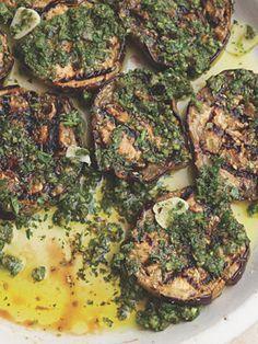 Grilled Marinated Eggplant Recipe at Epicurious.com