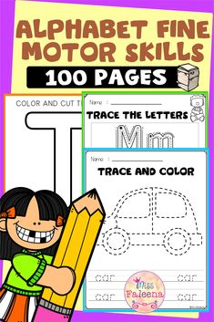 This resource has 100 pages of alphabet fine motor skills worksheet. This product is suitable for preschool and kindergarten students. This resource focus on academic fine motor, including pencil and scissors kills. Students will learn how to write, color, and cut letters. These pages can be used for morning work, homework, and literacy centers. Preschool   Preschool Worksheets  Kindergarten   Kindergarten Worksheets   Morning Work   Alphabet Letters   Fine Motor Skills