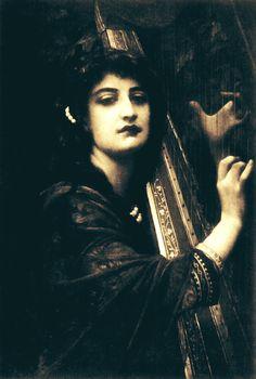 "ancient-serpent: ""The Harp of Tara, by Antoine August Ernest Hebert """