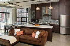 Lofts For Rent, Flat Panel Tv, Closet Storage, Built Ins, Kitchen Design, Kitchen Cabinets, The Unit, Flooring, Toronto