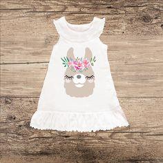 Llama Dress for Spring Sleeveless Ruffle Dress
