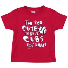 NB-4T Rookie Wear by Smack Apparel Chicago Baseball Fans Im Too Cute to Be A Cubs Fans Black Onesie or Toddler Tee