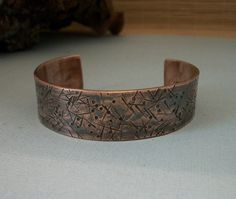 Hammer textured copper metalwork bracelet - copper jewelry - copper bracelet - unisex