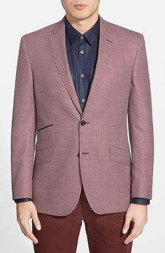 f38d5b6a755 Ted Baker London  Jeff  Trim Fit Wool Sport Coat available at  Nordstrom  Sport