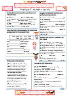 The Present Perfect Tense worksheet - Free ESL printable worksheets made by teachers