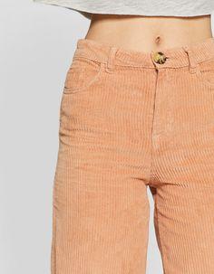 Pantalón pana culotte - Pantalones de mujer  3f326ddded96