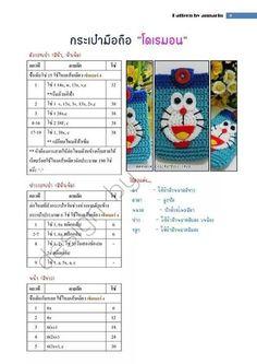 กระเป๋ามือถือพี่ม่อน Crochet Coin Purse, Crochet Box, Crochet Pouch, Crochet Keychain, Crochet Doily Patterns, Amigurumi Patterns, Crochet For Kids, Crochet Dolls, Crochet Phone Cases